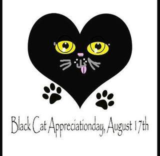 Black cat appreciation graphic