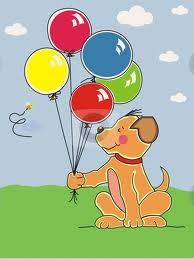 Blog balloons with dog
