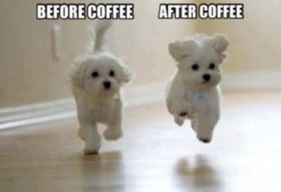 Coffee -before and after