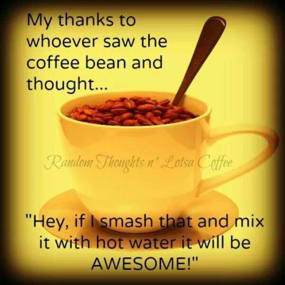 Coffee - my thanks