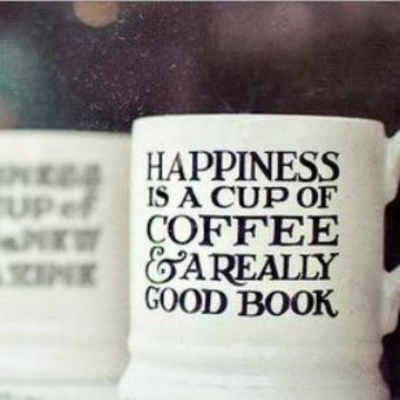 Coffee and book graphic